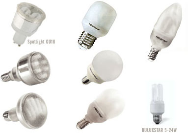 Soorten spaarlampen